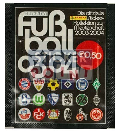 Panini Fussball 2003-2004 Packet Version Club Logos Front