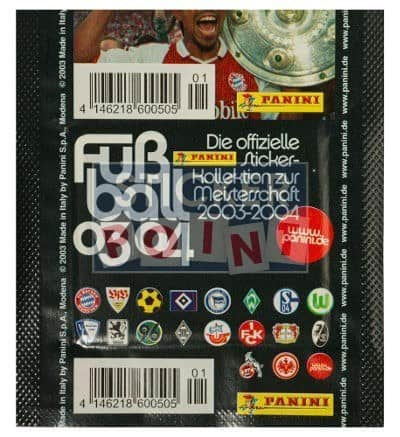 Panini Fussball 2003-2004 Packet Version Club Logos Back