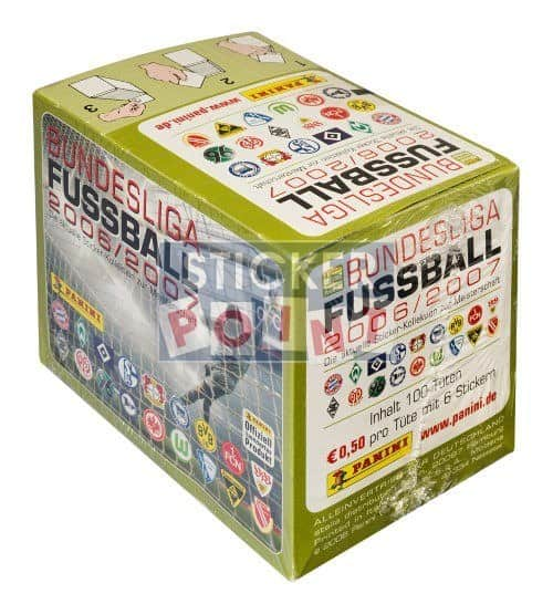 Panini Fussball 2006-2007 Box Display Back