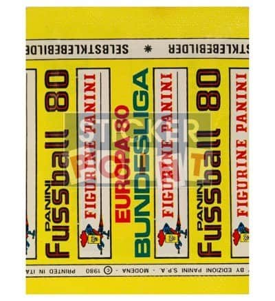 Panini Fussball 80 Packet Back