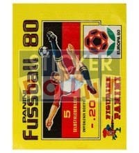 Panini Fussball 80 Packet - original With 5 Stickers
