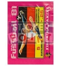 Panini Fussball 81 Packet - original With 5 Stickers