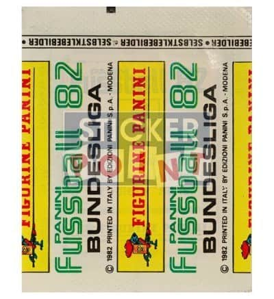 Panini Fussball 82 Packet Back