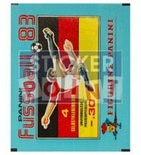 Panini Fussball 83 Packet - original With 4 Stickers