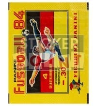 Panini Fussball 84 Packet - original With 4 Stickers