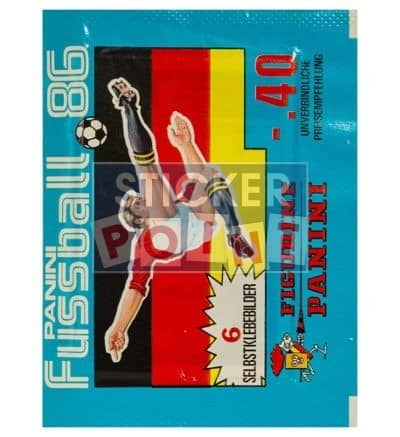 Panini Fussball 86 Packet Front