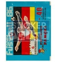 Panini Fussball 86 Packet - original With 6 Stickers