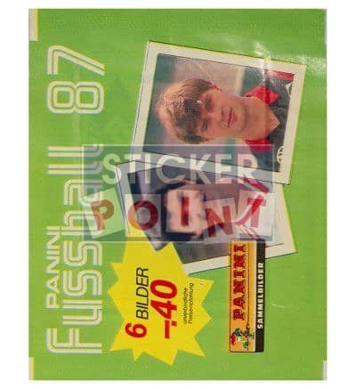 Panini Fussball 87 Packet Front
