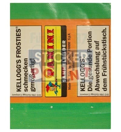 Panini Fussball 87 Packet Back