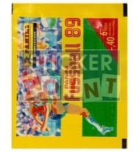 Panini Fussball 89 Packet - original With 6 Stickers