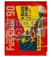 Panini Fussball 90 Packet - original With 6 Stickers