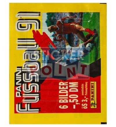 Panini Fussball 91 Packet Front