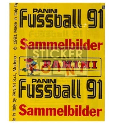 Panini Fussball 91 Packet Back