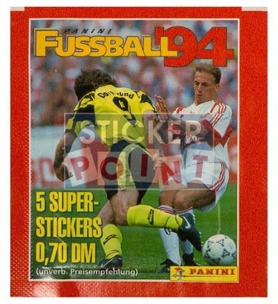 Panini Fussball 94 Packet Front
