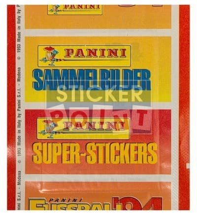 Panini Fussball 94 Packet Back