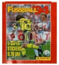 Panini Fussball 94 Packet - original With 5 Stickers