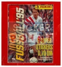 Panini Fussball 95 Packet - original With 5 Stickers