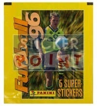Panini Fussball 96 Packet - original With 5 Stickers