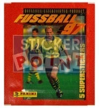 Panini Fussball 97 Packet - original With 5 Stickers
