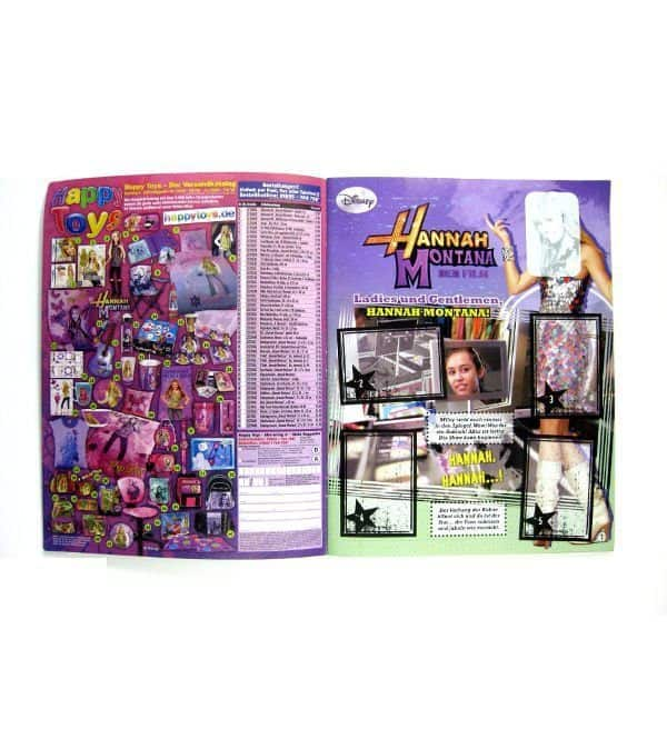 Panini Hannah Montana Album - Inner Page Ladies and Gentelmen