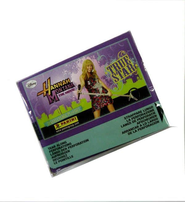 Panini Hannah Montana True Star Display - Box Top