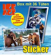 Panini Ice Age 5 Stickers - Box With 36 Packets
