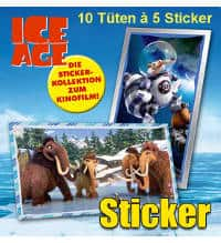 Panini Ice Age 5 Stickers - 10 Packets