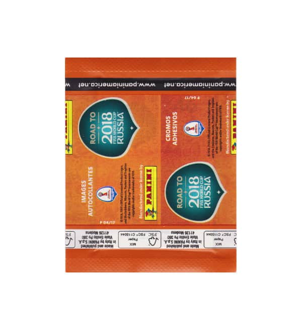 Panini Road to World Cup 2018 packet with 7 Stickers