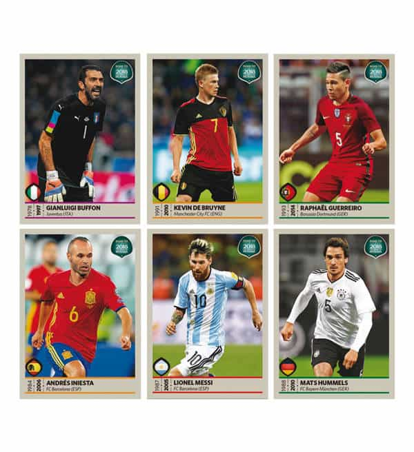 Panini Road to World Cup 2018 Stickers Images