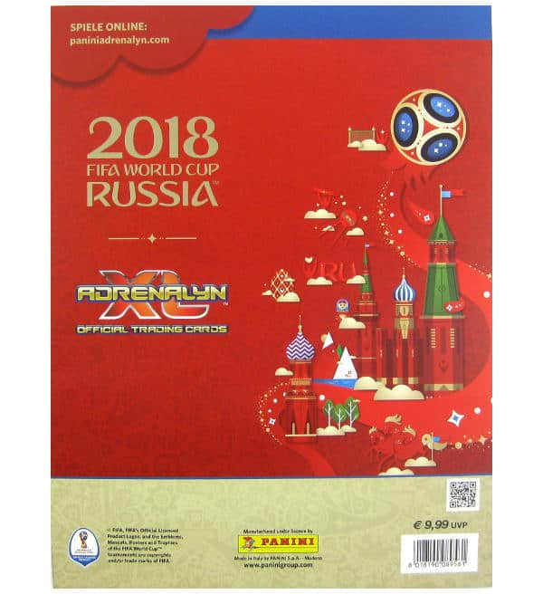 Panini World Cup 2018 Adrenalyn XL Premium Gold Back