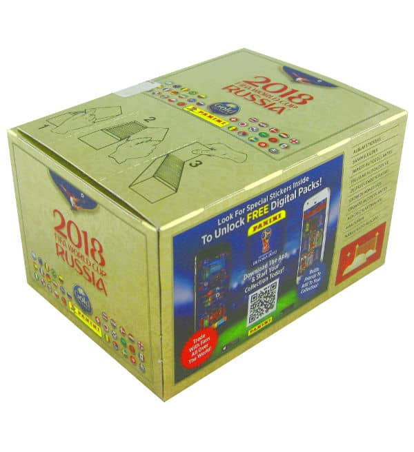 Panini World Cup 2018 - Gold Edition Box 100 Packets