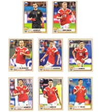 Panini Russia 2018 - McDonalds Stickers Russia M1 to M8