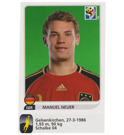 Panini WC 2010 Manuel Neuer Update Sticker
