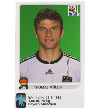Panini WC 2010 Thomas Mueller Update Sticker
