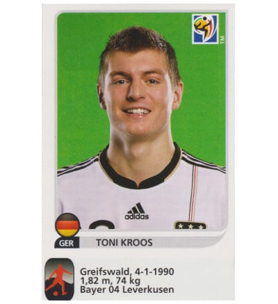 Panini WC 2010 Toni Kroos Update Sticker