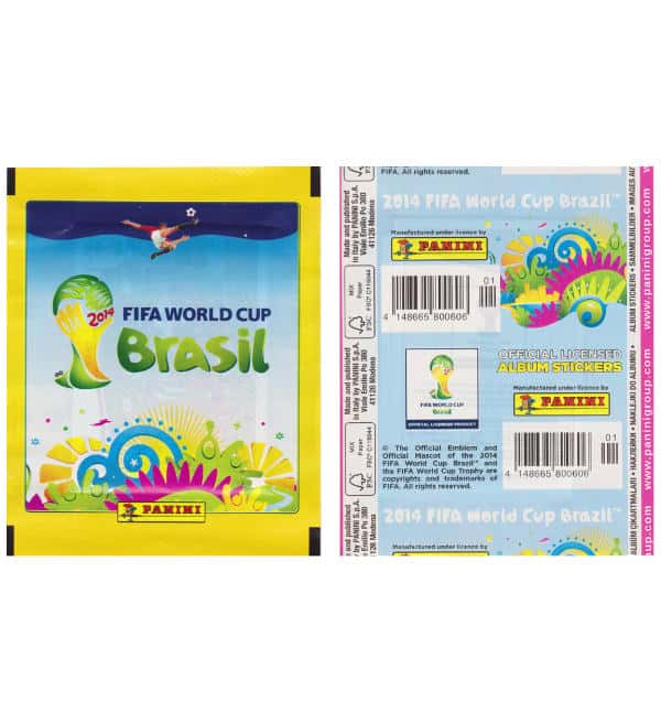 Panini Brazil 2014 Packet Yellow Vertical