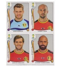 Panini WC 2014 Update Set Belgium - 84 Stickers