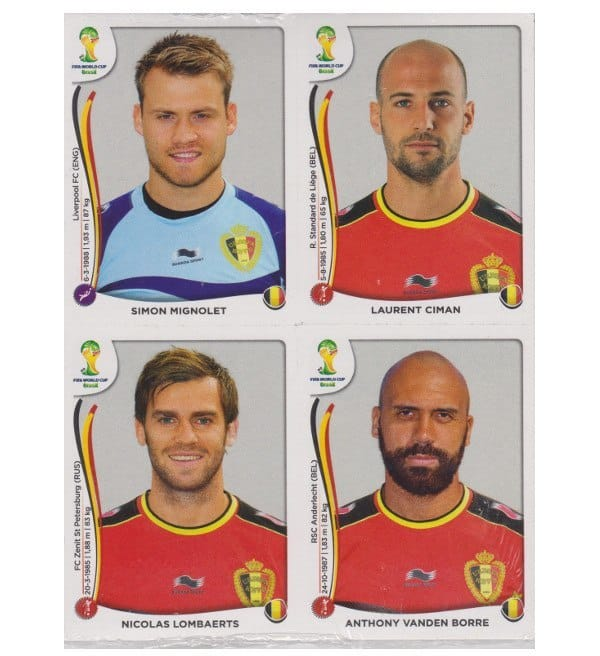Panini WC 2014 Update Set Belgium 84 Stickers