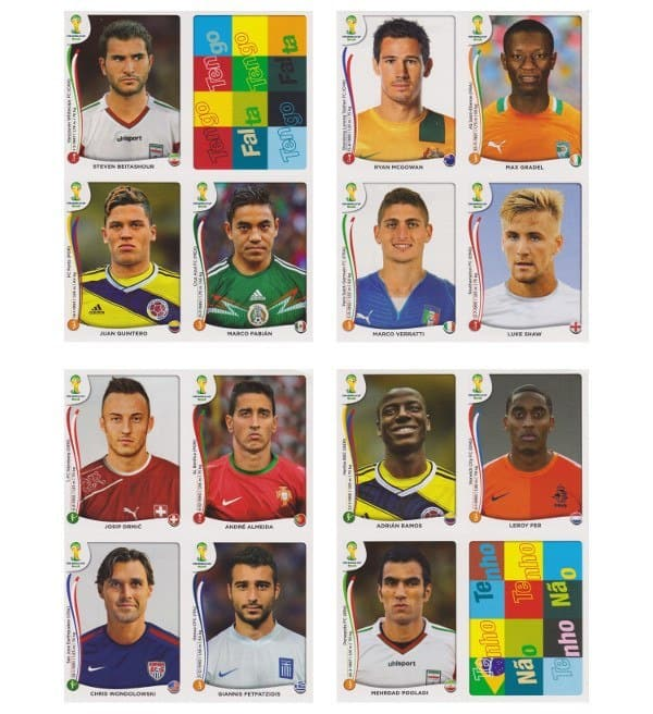 Panini WC 2014 Update Set Belgium Sheets 5-8