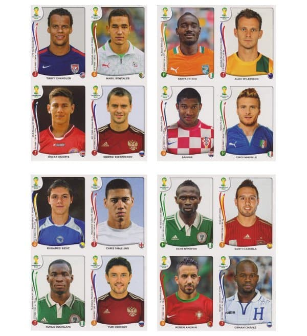 Panini WC 2014 Update Set Belgium Sheets 9-12