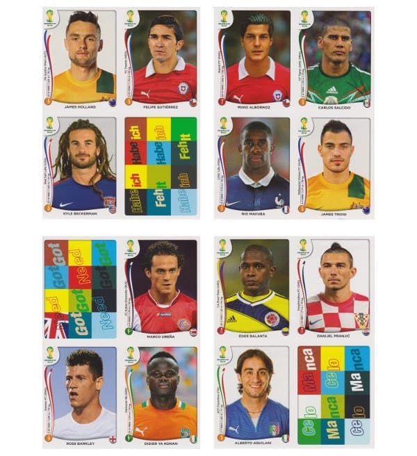 Panini WC 2014 Update Set Belgium Sheets 13-16