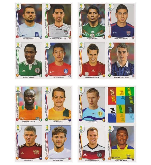 Panini WC 2014 Update Set Belgium Sheets 17-20