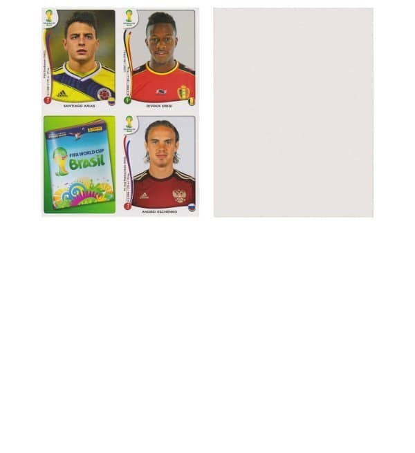 Panini WC 2014 Update Set Belgium Sheet 21