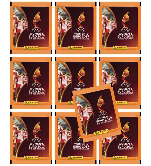 Panini Women's EURO 2017 - 10 sticker packets
