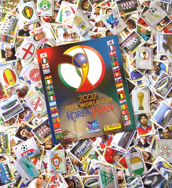 Panini World Cup 2002 - All 576 Stickers + Album