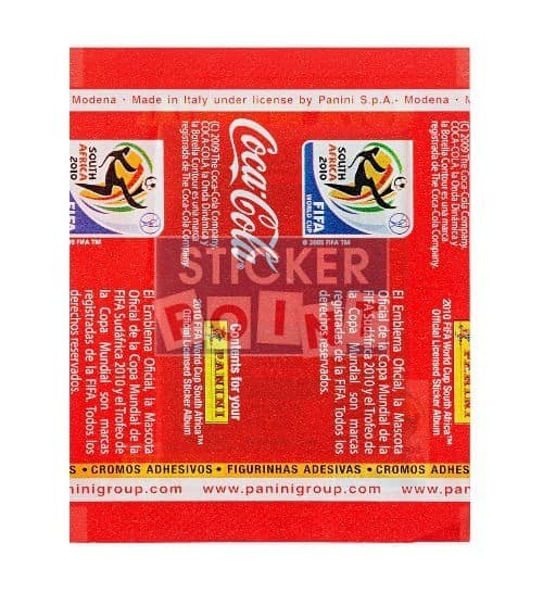 Panini World Cup 2010 Coca Cola Packet South America Back
