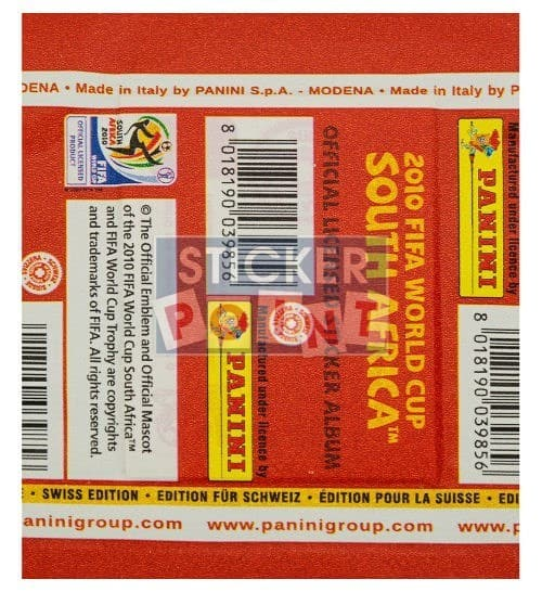 Panini World Cup 2010 Packet Edition Switzerland Back