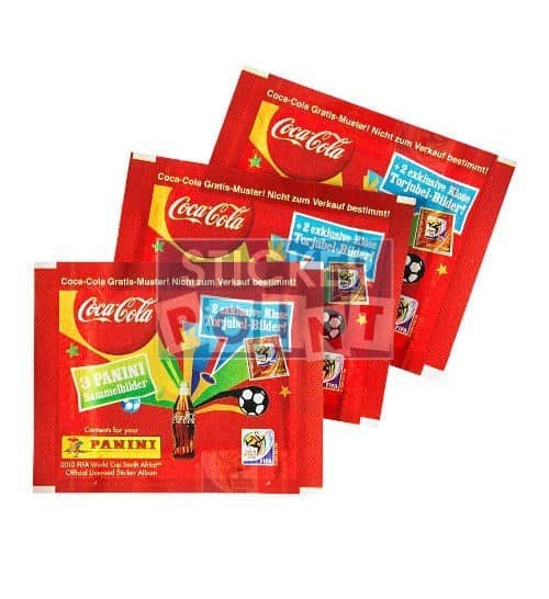 Panini World Cup 2010 3 Coca Cola Packets Klose Front