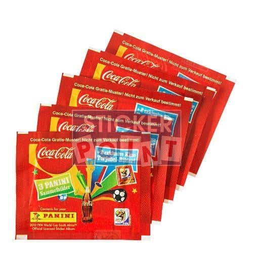 Panini World Cup 2010 5 Coca Cola Packets Klose Front