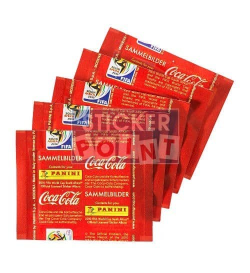 Panini World Cup 2010 3 Coca Cola Packets Klose Back